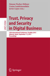 Trust, Privacy and Security in Digital Business by Simone Fischer-Hübner