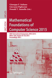 Mathematical Foundations of Computer Science 2015 by Giuseppe F Italiano