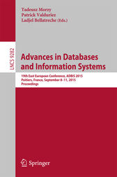 Advances in Databases and Information Systems by Morzy Tadeusz