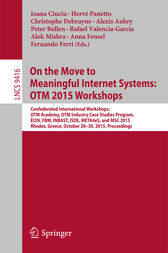 On the Move to Meaningful Internet Systems: OTM 2015 Workshops by Ioana Ciuciu