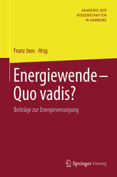 Energiewende - Quo vadis? by Franz Joos