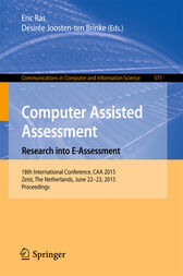 Computer Assisted Assessment. Research into E-Assessment by Eric Ras