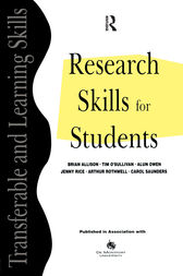 Research Skills for Students by Brian (Professor Emeritus Allison