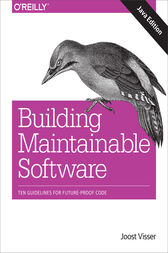 Building Maintainable Software, Java Edition by Joost Visser