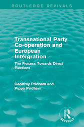 Transnational Party Co-operation and European Integration by Geoffrey Pridham