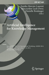 Artificial Intelligence for Knowledge Management by Eunika Mercier-Laurent