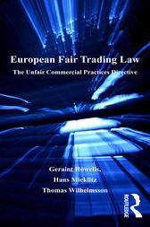 European Fair Trading Law by Geraint Howells