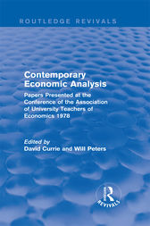 Contemporary Economic Analysis (Routledge Revivals) by David Currie