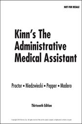 Kinn's The Administrative Medical Assistant E-Book by Deborah B. Proctor
