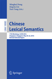 Chinese Lexical Semantics by Minghui Dong
