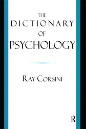 The Dictionary of Psychology by Ray Corsini