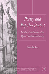 Poetry and Popular Protest by J. Gardner