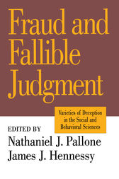 Fraud and Fallible Judgement by David Marsland