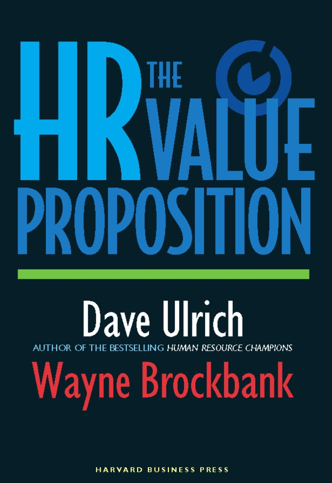 Download Ebook The HR Value Proposition by David Ulrich Pdf